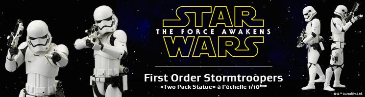 Star Wars Episode VII: Le Réveil de la Force : First Order Stormtrooper Two Pack ARTFX+ Statue⎪Kotobukiya France