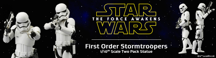 Star Wars Episode VII: The Force Awakens - First Order Stormtrooper Two Pack ARTFX+ Statue⎪Kotobukiya Europe