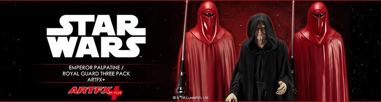 La collection Star Wars ARTFX+ accueille l'Empereur Palpatine accompagné de sa garde royale !