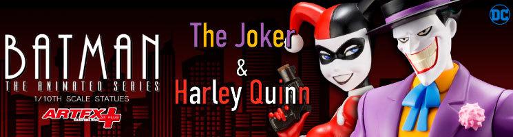 Batman : La Série Animée - Figurines Le Joker et Harley Quinn