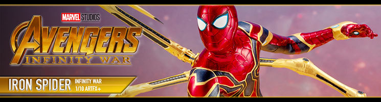 "Figurine Spider-Man ""Iron Spider"" Avengers Infinity War"