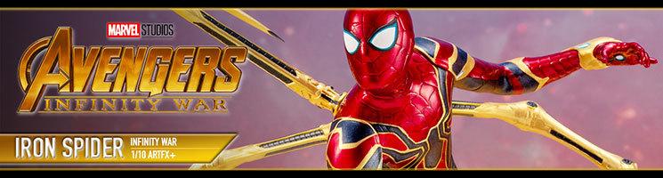 """Avengers Infinity War Spider-Man """"Iron Spider"""" statue"""